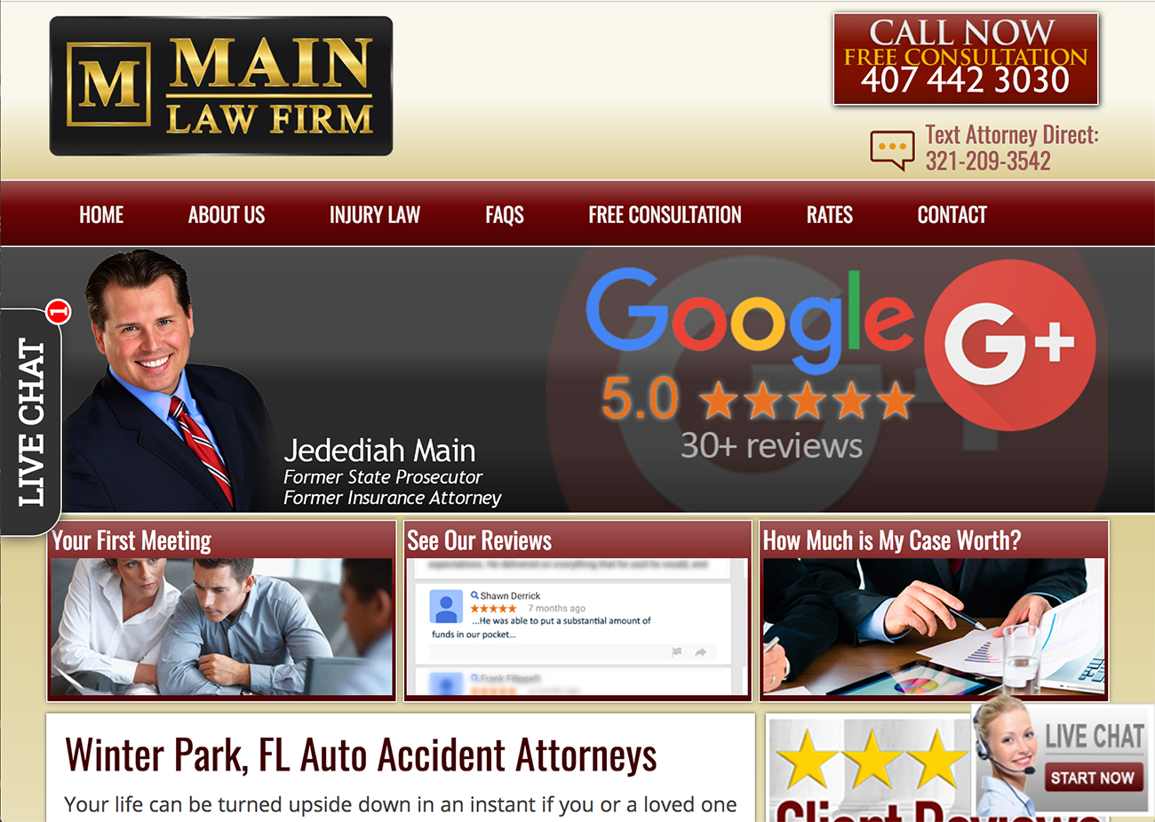 Main Law Firm Winter Park, FL Injury Lawyers